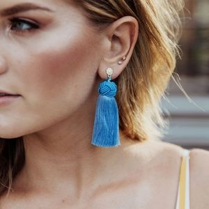 Hart Topknot tassel earrings